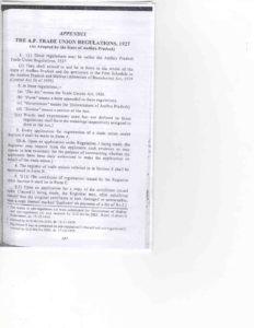 Andhra Pradesh Trade Union Regulations,1927