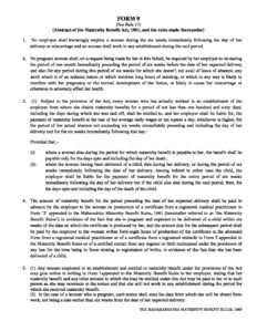 Maharashtra Maternity Benefit Rules, 1965