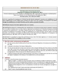 Maharashtra Private Security Guards _Regulation of Employ & Welfare_ Act