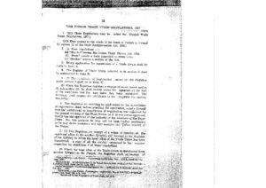Punjab Trade Unions Regulations, 1927
